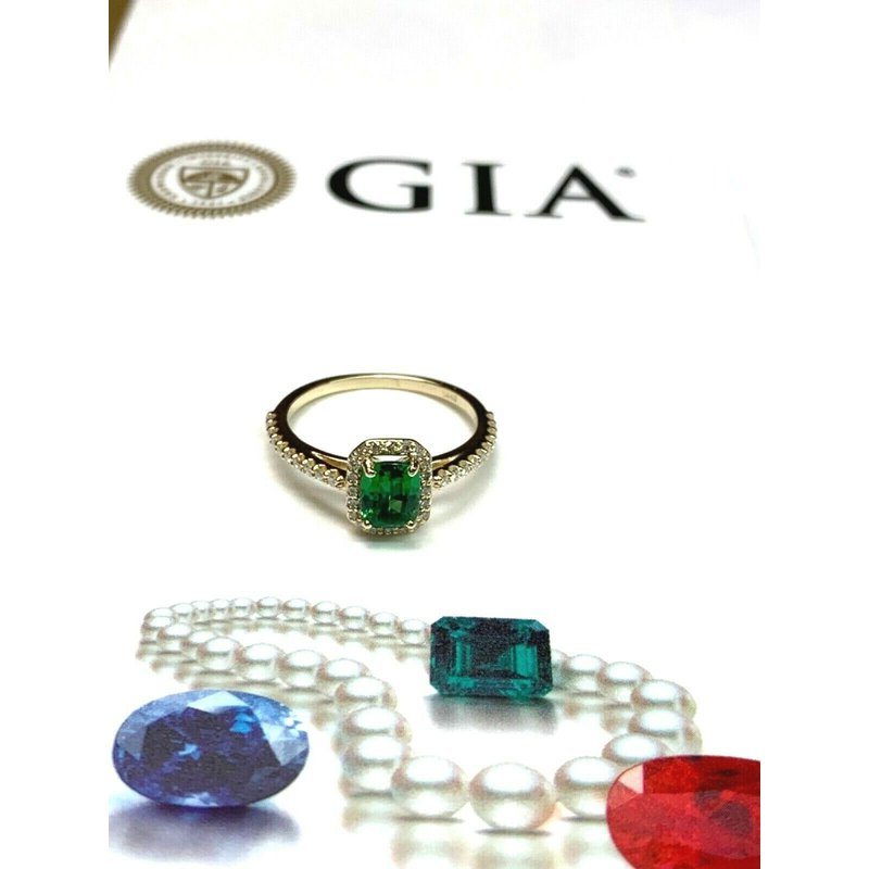 Pre-Loved Jewelry 1 Carat Tsavorite Garnet RARE GIA Certified