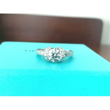 Tiffany Ribbon Ring .87 ct E VVS1
