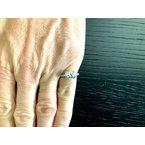 Pre-Loved Jewelry Tiffany Ribbon Ring .87 ct E VVS1