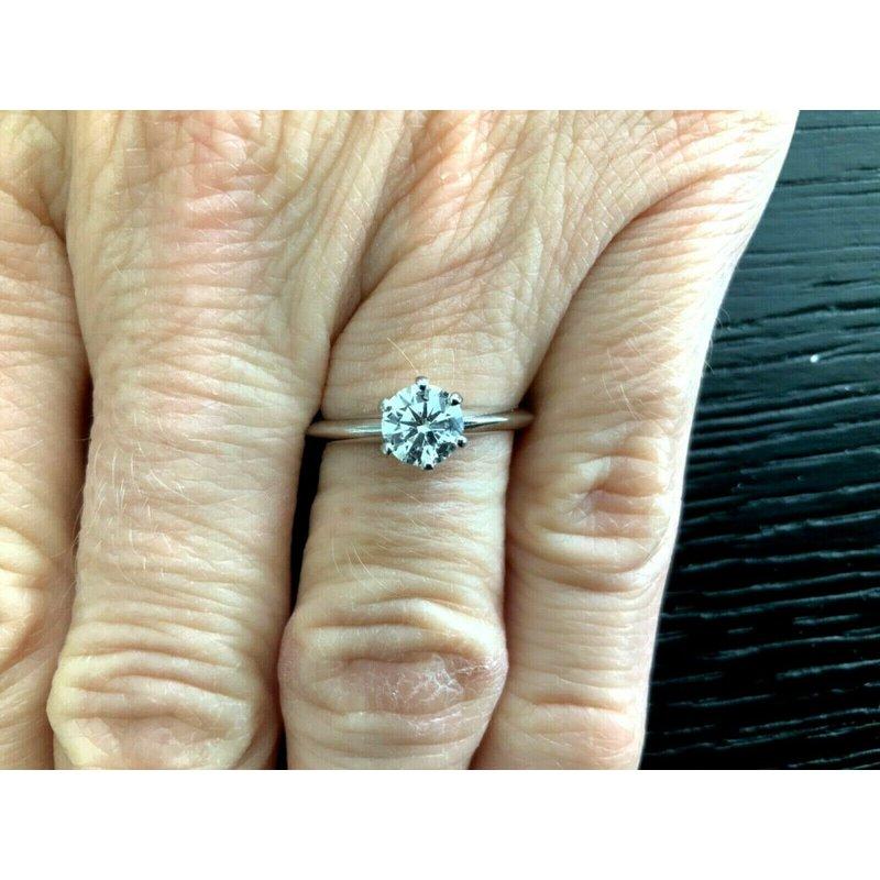 Tiffany Round .70 ct H VS1 $8k NEW