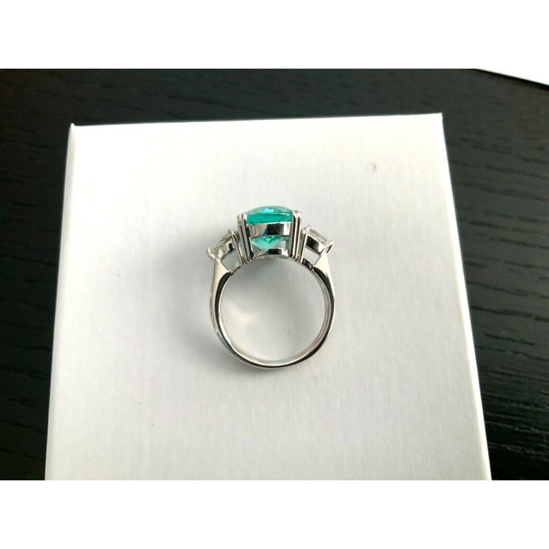 Pre-Loved Jewelry 7.12 ct AGL Certified Bluish Green Paraiba Ring $35k Retail
