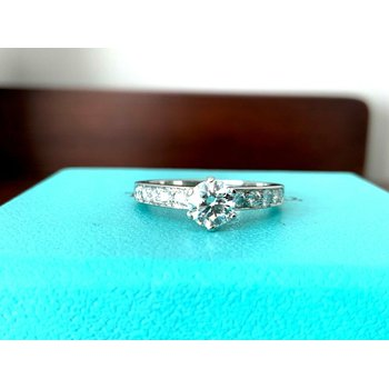 Tiffany .82 ct Channel Set Diamond Ring I VVS1 $7k NEW