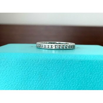 Tiffany Channel Set 2.5 mm Eternity Band $3800 NEW