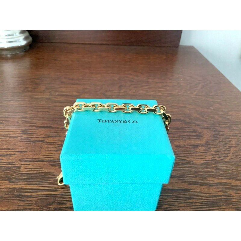Tiffany HEAVY LINK 18k Gold Bracelet 8.5 inch $9k NEW
