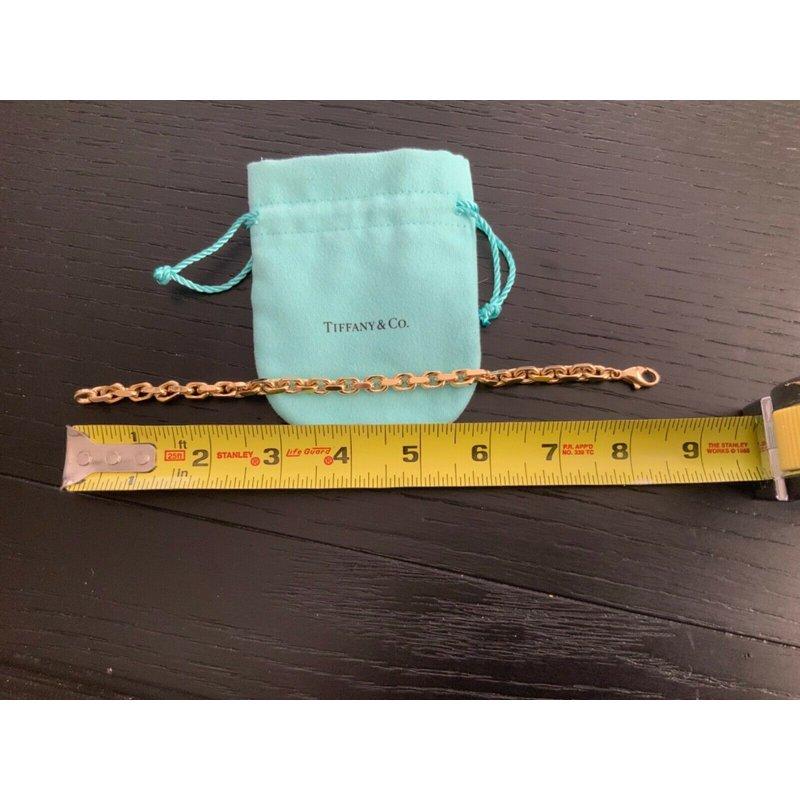 Pre-Loved Jewelry Tiffany HEAVY LINK 18k Gold Bracelet 8.5 inch $9k NEW