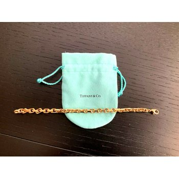 Tiffany HEAVY LINK 18k Gold Bracelet 8.5 inch $9k NEW