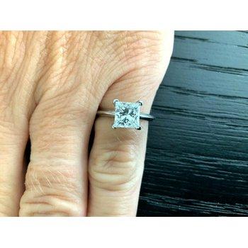 Tiffany 1.27 ct Princess G VVS2 $18k NEW