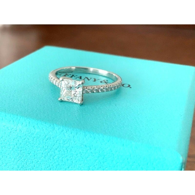 Pre-Loved Jewelry Tiffany PRINCESS Cut NOVO 1.24 ct 2018 Model $17k NEW
