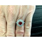 Pre-Loved Jewelry 1.24 ct Burma Ruby and Diamond Ring $20k NEW