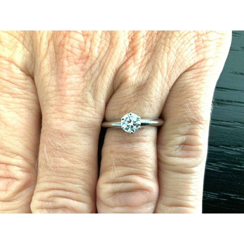 Pre-Loved Jewelry Tiffany Round .50 ct G VVS2 $6k NEW