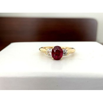 .99 ct GIA Certified Thai Ruby and Diamond Ring