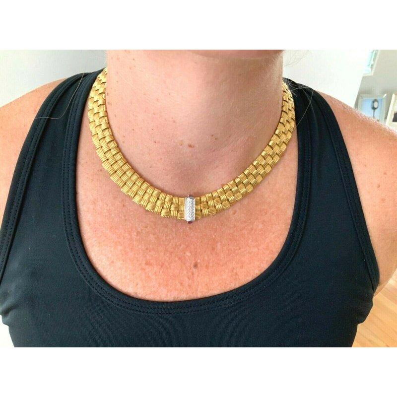 Pre-Loved Jewelry Roberto Coin Appasionata 18k Diamond Necklace $20k NEW