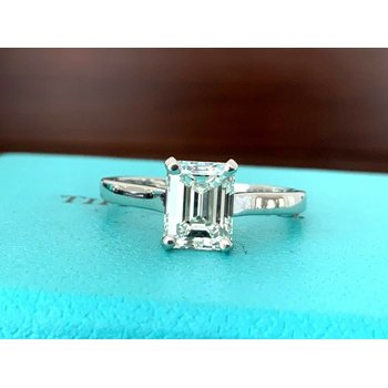 Tiffany Emerald Cut 1.60 ct Solitaire I VVS1 $26k NEW