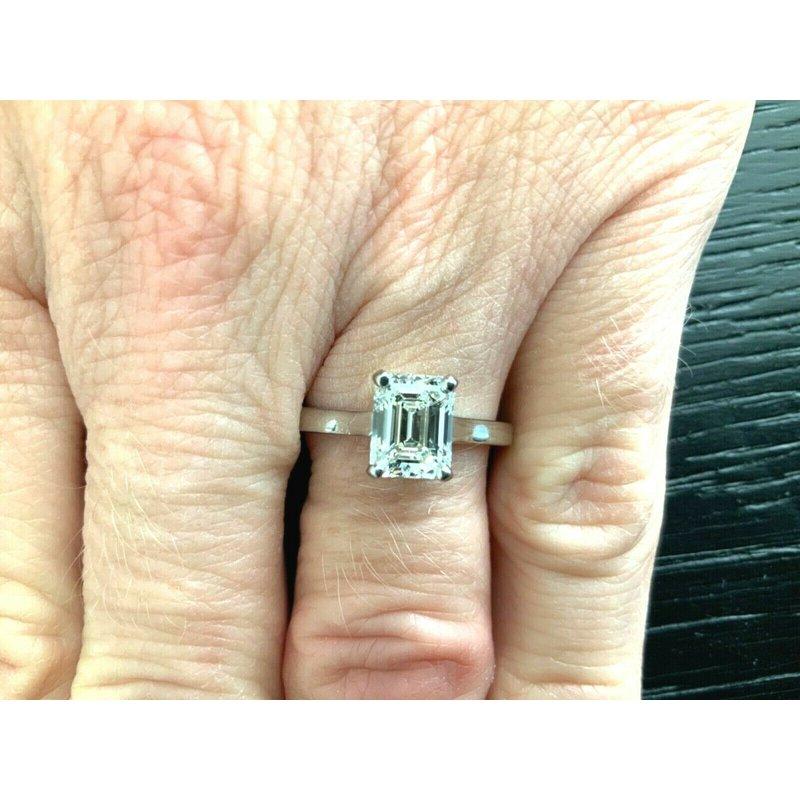 Tiffany Emerald Cut 1.60 ct Solitaire I VVS1 $26k NEW