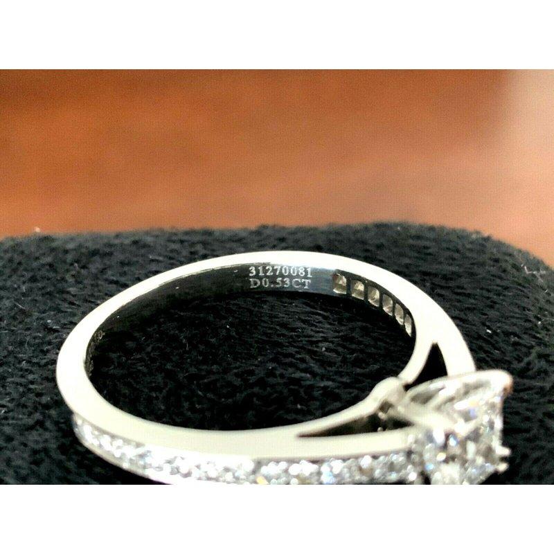Pre-Loved Jewelry Tiffany Princess Cut GRACE .63 ct E VVS1 $8k NEW