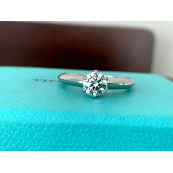 Tiffany Round .53 ct G VVS1 3 EXC $6k NEW