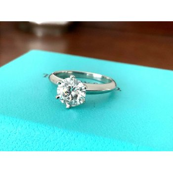 Tiffany 1.52 ct Round Solitaire H VS2 $30k NEW