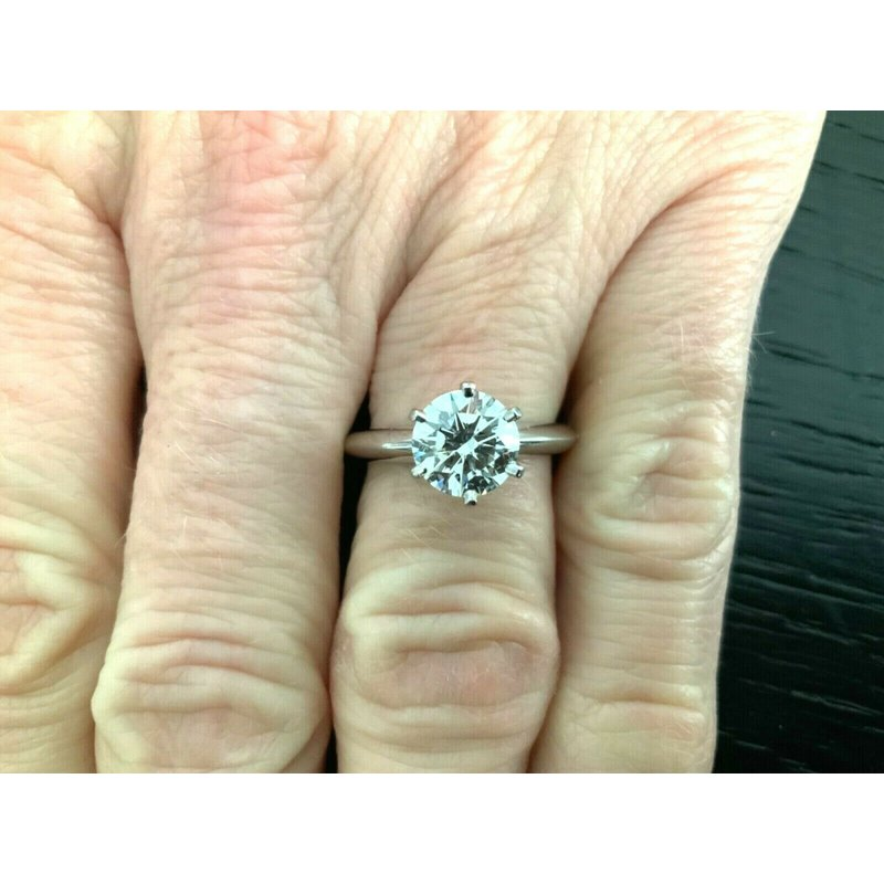Pre-Loved Jewelry Tiffany 1.52 ct Round Solitaire H VS2 $30k NEW