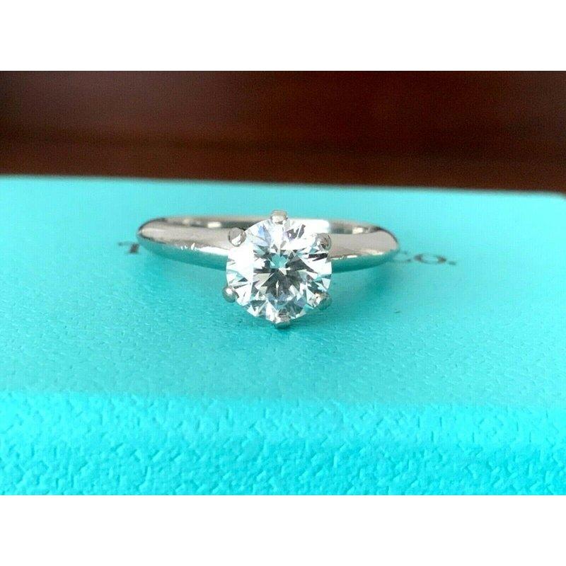 Pre-Loved Jewelry Tiffany Round 1.08 F VVS2 3 EXC $19k