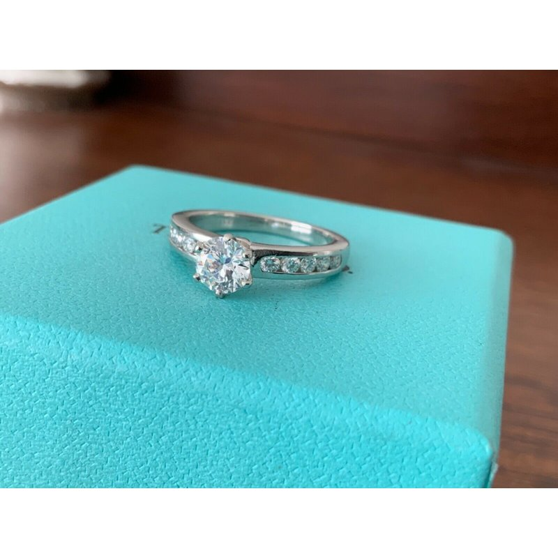 Pre-Loved Jewelry Tiffany Channel Set 1.00 ct D VS1 3 EXC $13k NEW