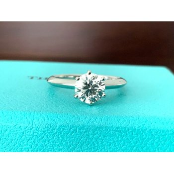 Tiffany Round .47 ct I VVS2 3 EXC $5k NEW