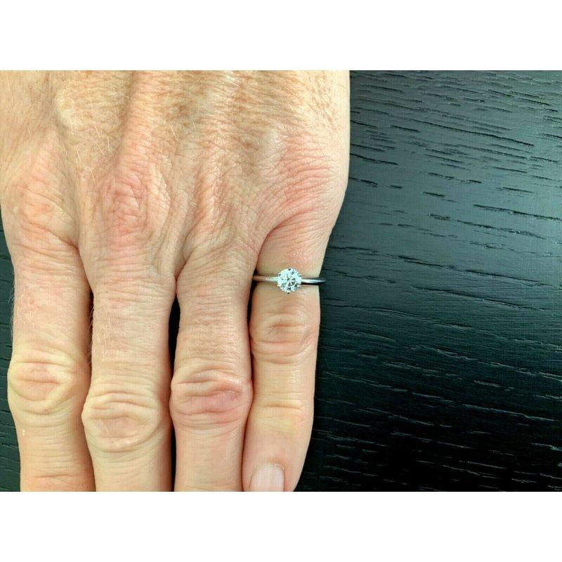 Pre-Loved Jewelry Tiffany Round .47 ct I VVS2 3 EXC $5k NEW