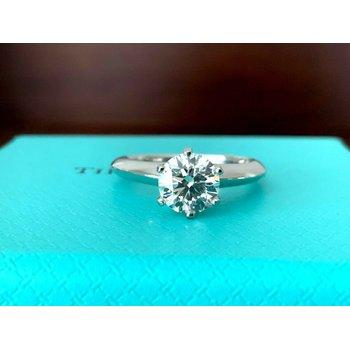 Tiffany Round 1.01 ct I VS1 3 EXC $16k NEW
