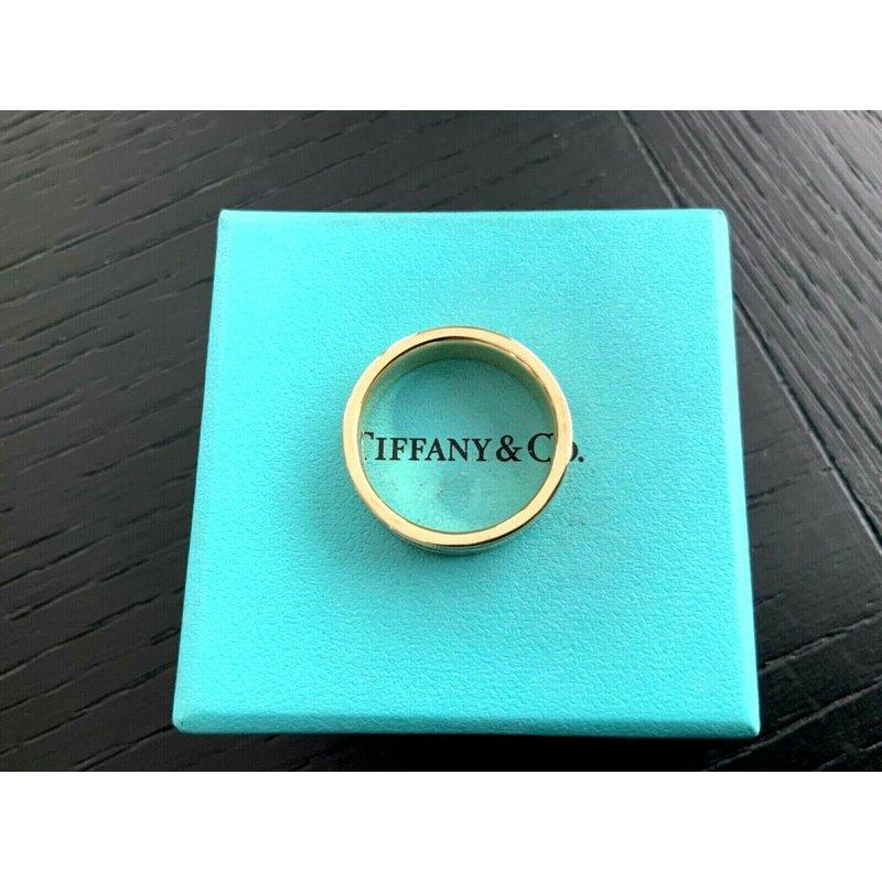 Pre-Loved Jewelry Tiffany Essential 6 mm Flat Milgrain 18k Gold Band NEW