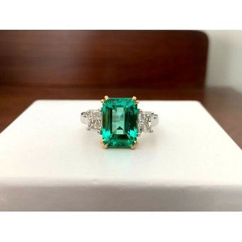3.37 ct Columbian Emerald Ring ULTRA RARE