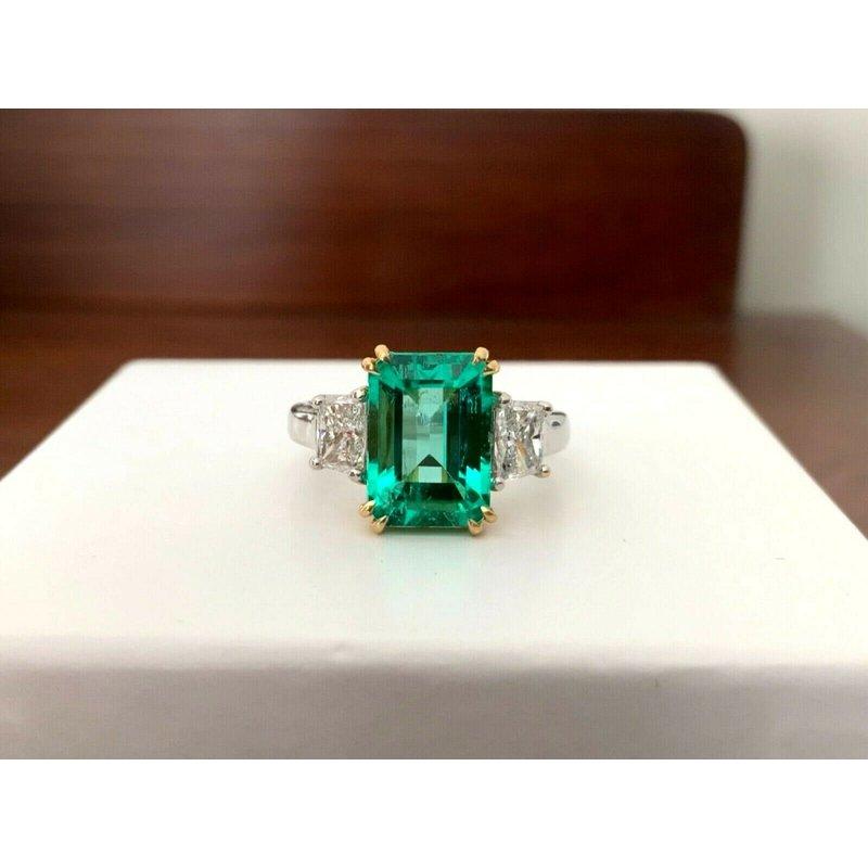3.37 ct Columbian Emerald Ring ULTRA RARE