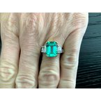 Pre-Loved Jewelry 3.37 ct Columbian Emerald Ring ULTRA RARE