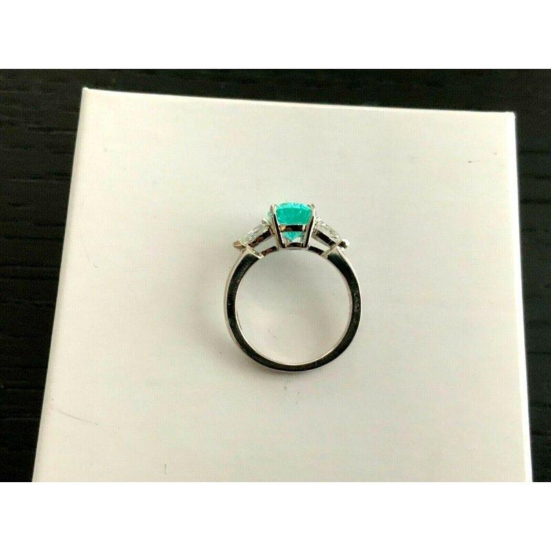 Pre-Loved Jewelry 2.25 ct Brilliant Pear Pariaba Tourmaline with Diamonds