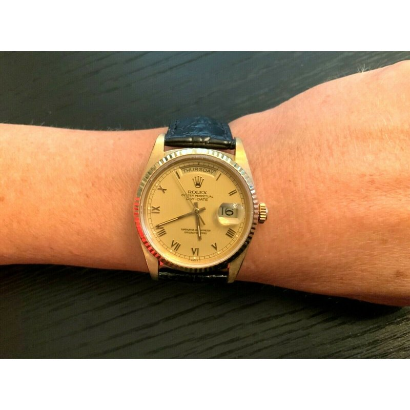 Pre-Loved Jewelry Rolex 36mm President 18238 18k Gold Double Quickset