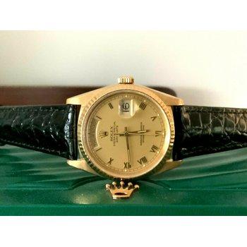 Rolex 36mm President 18238 18k Gold Double Quickset