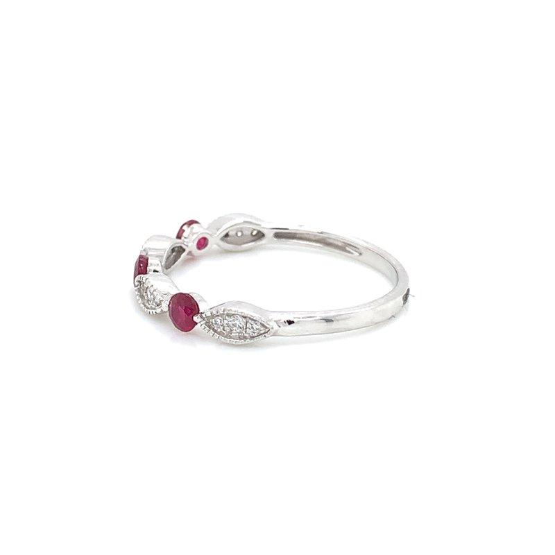 Bennett's Jewels 14KW Ruby & Diamond Ring