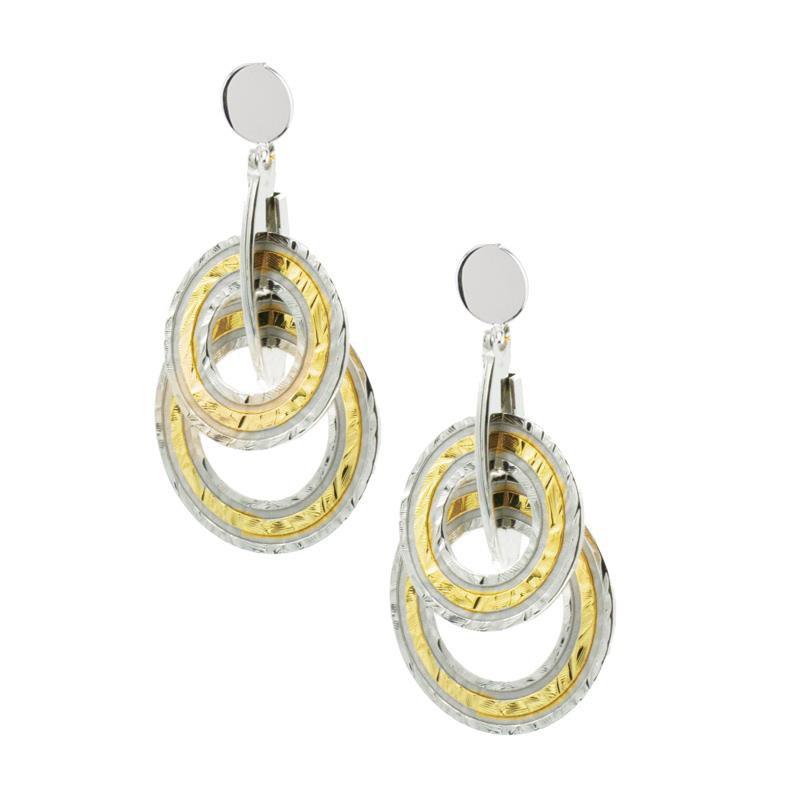 Bennett's Jewels Sterling Silver YG PL Kaitlyn Earrings