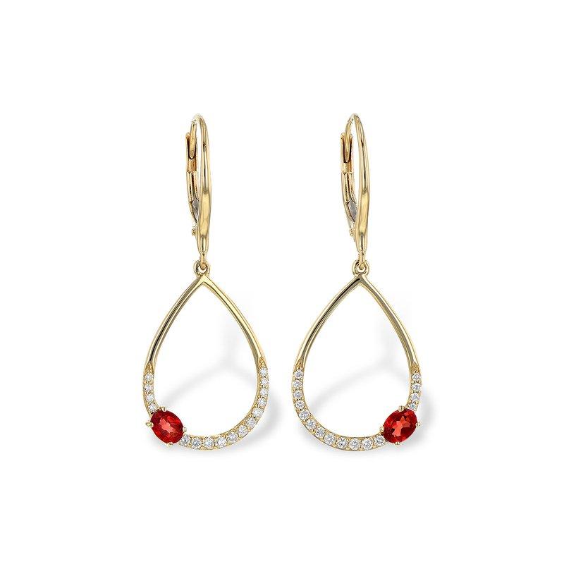 Bennett's Jewels 14KY Garnet & Diamond Earrings
