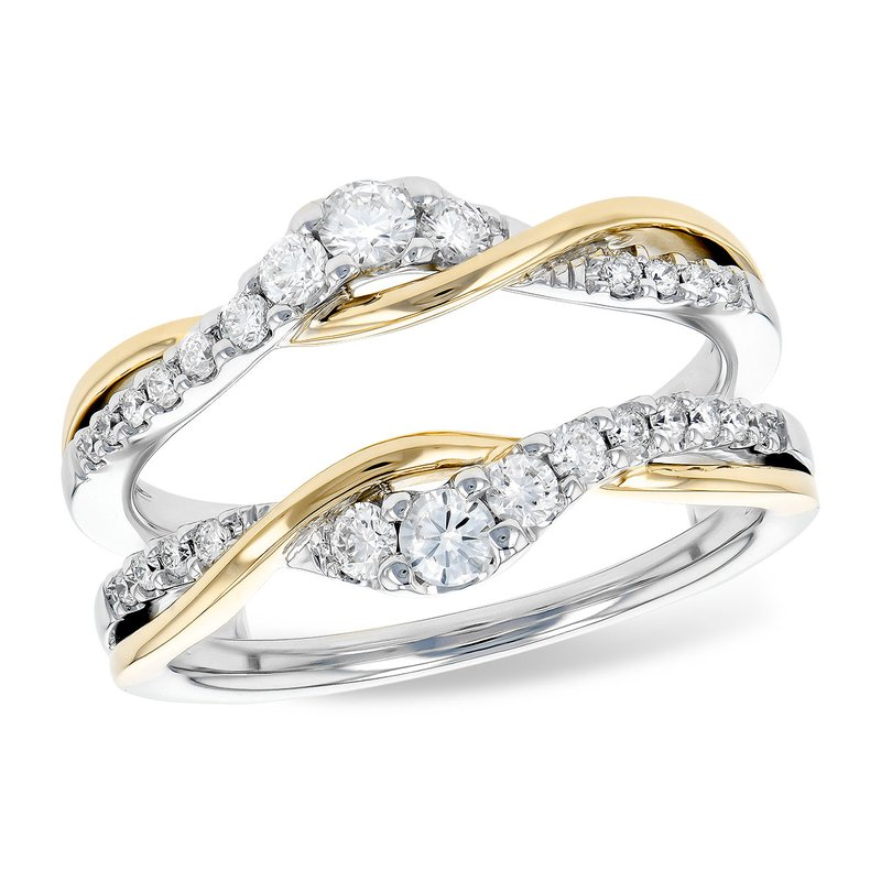 Bennett's Jewels 14KTT Diamond Ring Guard