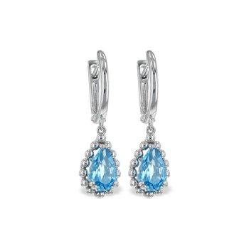 14KW Blue Topaz Earrings