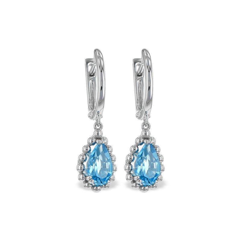 Bennett's Jewels 14KW Blue Topaz Earrings