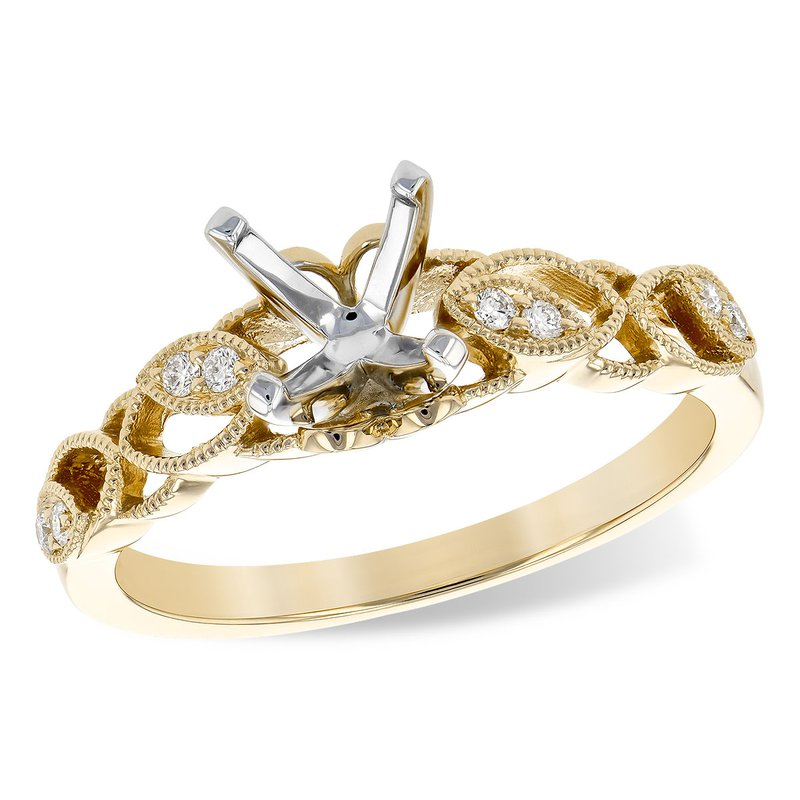 Bennett's Jewels 14KY Semi Mount Engagement Ring