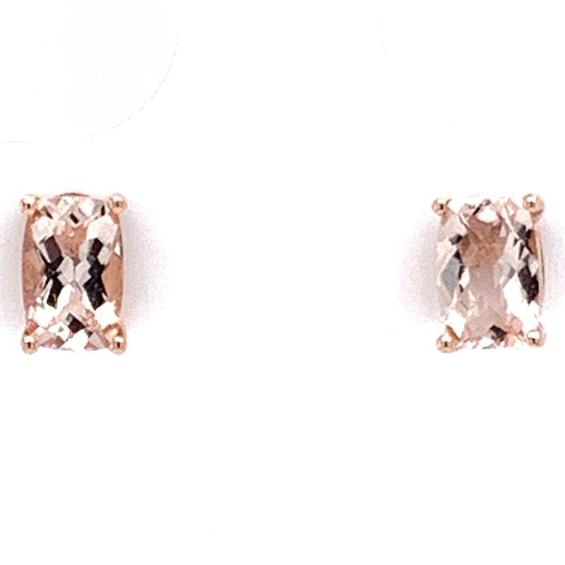Bennett's Jewels 14KR Morganite Earrings
