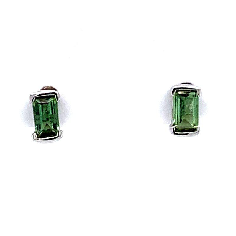 Bennett's Jewels 14KW Peridot Earrings