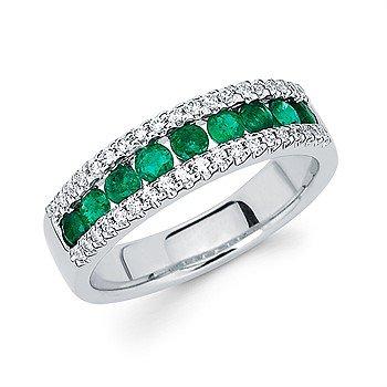 14KW Emerald Band