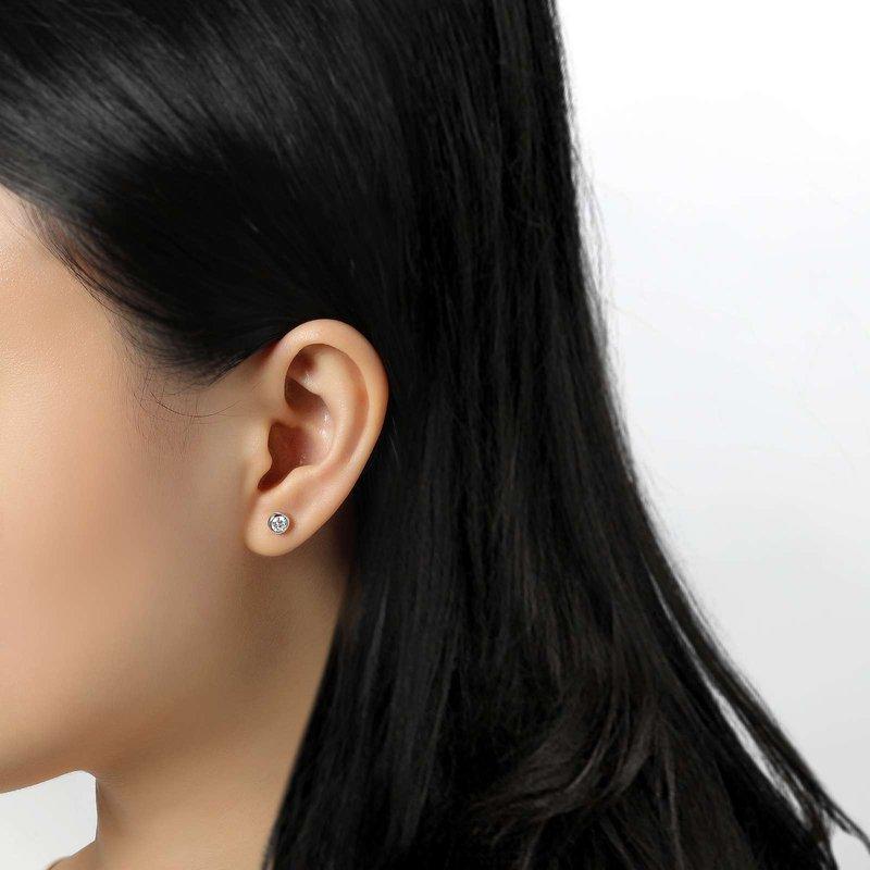 Bennett's Jewels Sterling Silver Platinum Simulated Diamond Earrings