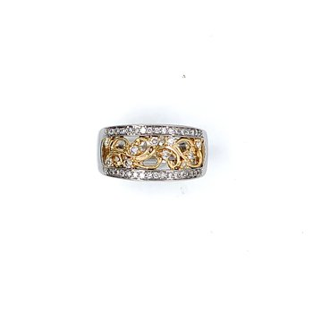 14K Two Tone Diamond Ring