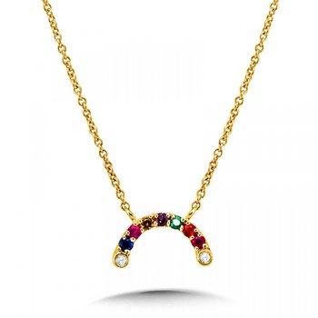 14KY Rainbow Necklace