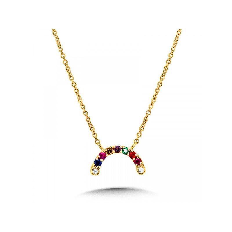 Bennett's Jewels 14KY Rainbow Necklace