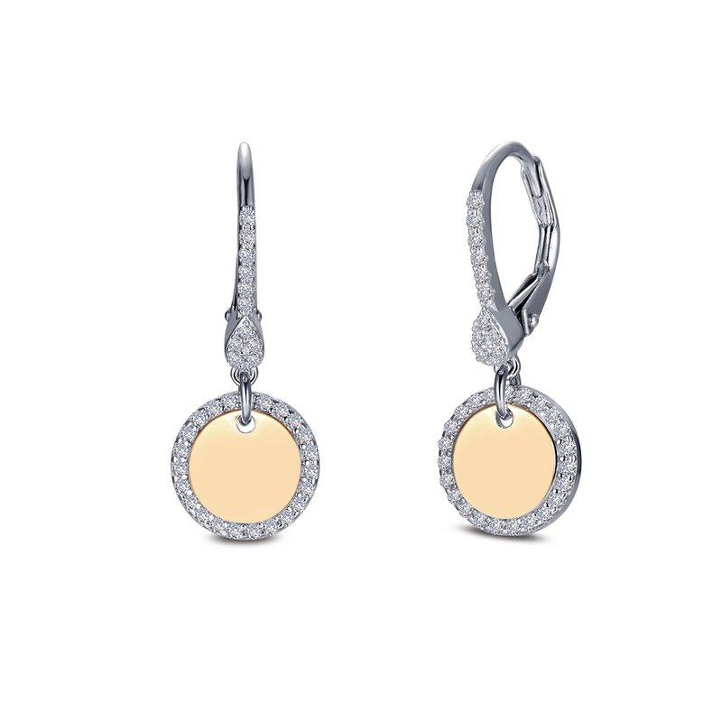 Bennett's Jewels Sterling Silver 18KY Simulated Diamond Earrings