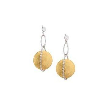 Sterling Silver YG PL Solar Wrap Earrings
